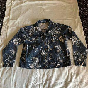 Vintage Blue Floral Jacket